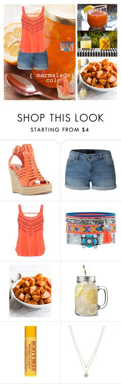 """Hey Mister Orange!!!"" by oksana-kolesnyk ❤ liked on Polyvore featuring Dune, LE3NO, maurices, New Look, Burt's Bees and LC Lauren Conrad"