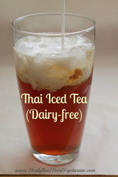 Naturally Sweetened Thai Iced Tea (Dairy-free) @ Healy Real Food Vegetarian