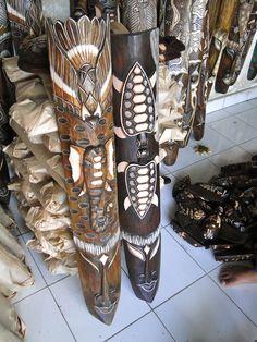 Bali Masks, Hand Carved.