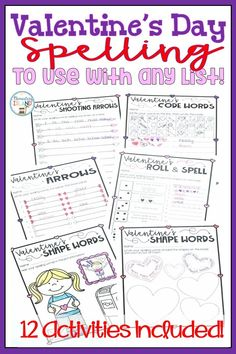 This is a great way to incorporate spelling practice into your holidays! You can use these spelling activities for ANY list! These are great spelling activities for or graders. Spelling Practice, Spelling Lists, Spelling Activities, Valentines Day Activities, Holiday Activities, Valentine Ideas, Teaching Strategies, Teaching Resources, Teaching Ideas