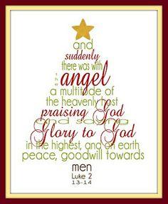 Free Christmas verse printable