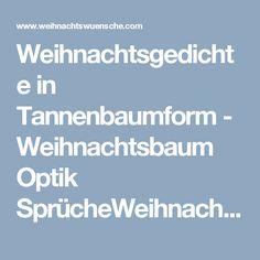Weihnachtsgedichte in Tannenbaumform - Weihnachtsbaum Optik SprücheWeihnachtswuensche.com