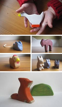Wooden animals, find their personalities