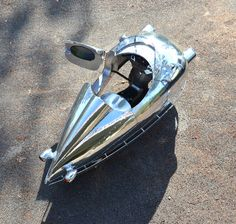 Decopod Tri-Pod Art Deco aluminum bodied scooter from Randy Grubb