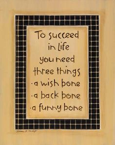 Three Things for Success