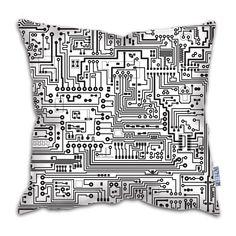 Circuit Board Cushion  #Gadgetman #giftsideasforhim #giftsformen #cushion #home #circuitboard #IT #interiors #batchelorpad