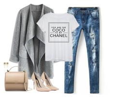 """""""on the go"""" by crysmaggio on Polyvore featuring Chicwish, Chanel, Sophia Webster, Givenchy and Bebe"""