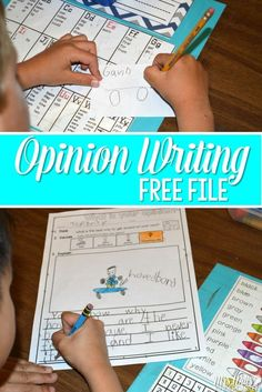 opinion writing in k