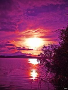 purple sunset pictures | Purple sunset by PSMnt