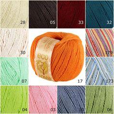 Mercerized Cotton Yarn, Organic Cotton Yarn, Yarn Colors, Yarns, Color Combos, Knit Crochet, Eco Friendly, Weaving, Throw Pillows