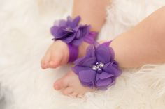 Baby Barefoot Sandals - Purple