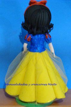 FOFUCHAS. Manualidades y Creaciones Maite: Fofucha Princesa BLANCA NIEVES