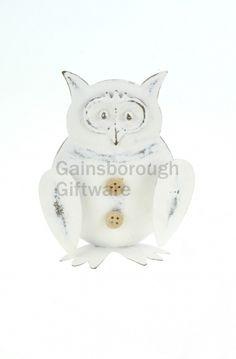 Small Metal Owl @ gainsboroughgiftware.com