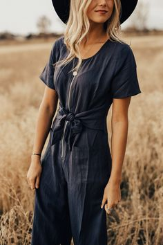 Nursing Friendly Jumpsuit with Pockets | ROOLEE