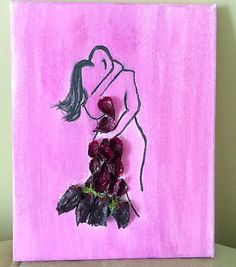 Canvas art Watercolour canvas painting gifts for by PetalcraftArt