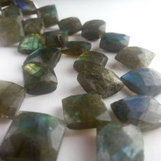 Flashy Labradorite Beads Faceted Diamond 12 Full Strand Free Ship LB8L4F0001