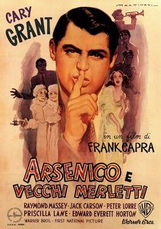 Arsenic and Old Lace - Italian poster Arsen und Spitzenhäubchen