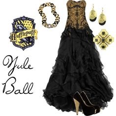 "harry potter hufflepuff | Hufflepuff Yule Ball"" by brebre267 on Polyvore 