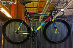 If #Mondrian had been a cyclist, he probably would have ridden a #bike like this! #fixed #singlespeed