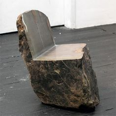 Rock Furniture by Max Lamb...I think he was inspired by the flintstones