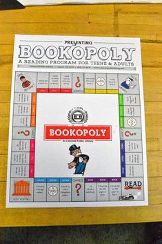 Go Try It: Do some reading with the library's Bookopoly - The Concord Insider Library Games, Library Activities, Library Lessons, Reading Activities, Teaching Reading, Library Ideas, Library Week, Math Lessons, Elementary School Library
