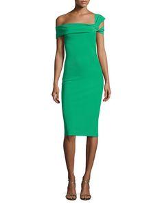 1f0cbd3970d6 Chiara Boni La Petite Robe Laia One-Shoulder Stretch Jersey Cocktail Dress