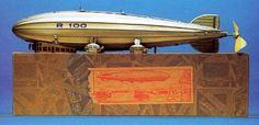 Tippco Tinplate Clockwork Airship No.R100