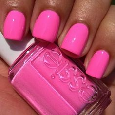 "Essie - ""Boom Boom Room"", Summer 2013 Neon Collection cute nails for spring or summer🎀 Get Nails, Love Nails, How To Do Nails, Pretty Nails, Hair And Nails, Pretty Toes, Manicure And Pedicure, Pedicure Colors, Hot Pink Pedicure"