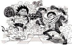 Big Mom Crew Charlotte Katakuri Monkey D Luffy One Piece Anime D, Manga Anime One Piece, One Piece Fanart, One Piece 1, One Piece Luffy, Luffy Gear Fourth, Akuma No Mi, Mugiwara No Luffy, One Piece Pictures