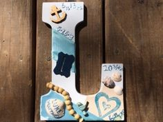 DIY Birth Announcement Wall Letters