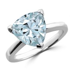 Jewelry Point - Trillion-Cut Blue Aquamarine Solitaire Engagement Cocktail Ring, $995.00 (http://www.jewelrypoint.com/trillion-cut-blue-aquamarine-solitaire-engagement-cocktail-ring/)