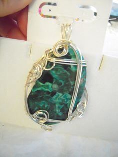 Turquoise Jasper in Silver Pendant by KLJewelryDesign on Etsy, $18.50