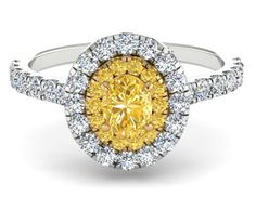 Natural Yellow Diamond Engagement Ring, Not Treated Genuine Yellow Diamond Ring, Natural Diamond Wedding Ring, Intense Yellow Diamond Ring by BridalRings on Etsy https://www.etsy.com/listing/465596058/natural-yellow-diamond-engagement-ring