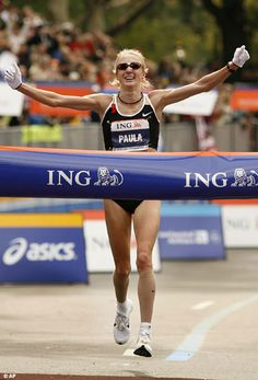 My inspiration: Paula Radcliffe. (AND she won the NY Marathon 10 months after giving birth. such a badass)