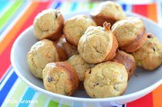 Mini Banana and Raisin Muffins