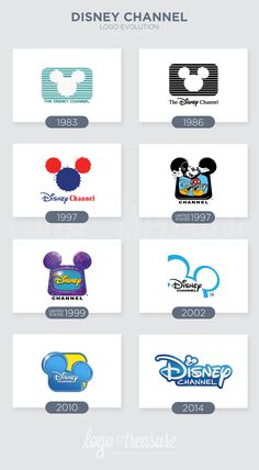 Disney Channel logo evolution. 2002 was the best!