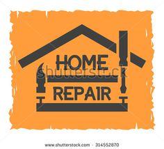 Home Repair Emblem Tool Box Symbol Stock Vector (Royalty Free) Bauunternehmen Logo, Box Symbol, Handyman Logo, Logo Minimalista, Construction Logo Design, Old Greeting Cards, Service Logo, Craft Desk, Corporate Identity