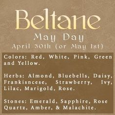 ☆ Beltane :→ May Day ☆
