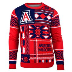 Arizona Patches Ugly Crew Neck Sweater - 1