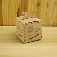 100pcs/pack Creative Post Aircraft Paper Box Wedding Vintage Chocolate Candy Box Decoracion Birthday Party Gifts Box for Guests