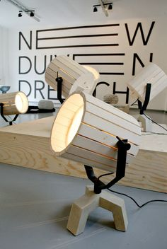 The Barrel Lamp by Nieuwe Heren for New Duivendrecht - Design Milk Into The Woods, Wooden Lamp, Wood Design, Home Projects, Lighting Design, Wood Crafts, Woodworking Projects, Woodworking Wood, Furniture Design