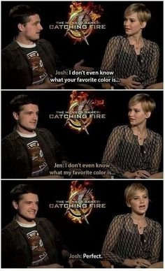 Josh and Jen dont know each other fave color and what is even more funny is jen doesnt even know her fave color is, so it wont matter anymore ahaha
