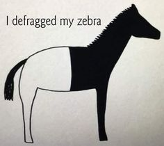 I defragged my Zebra funny pictures Computer Humor, Computer Science, Slow Computer, Funny Images, Funny Photos, Best Funny Pictures, Ingenieur Humor, Programming Humor, Physics Humor