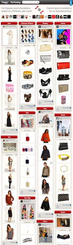 check out what zappos pinpointing recommends for madonna nero based on their pinterest