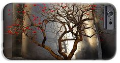 Red Tree IPhone 6s Case featuring the photograph Red Tree by Gandz Photography