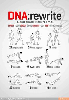 DNA Rewrite Workout - Workout for later! 100 Workout, Workout Routine For Men, Workout Guide, Workout Challenge, Fitness Workouts, Yoga Fitness, At Home Workouts, Fitness Motivation, Superhero Workout