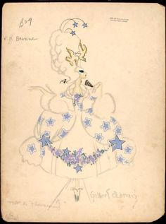 Costume designs by Adrian for the Greenwich Village Follies, 1920
