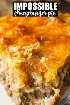 Impossible Cheeseburger Pie - Super easy and delicious! This yummy recipe is full of cheesy beefy flavor that everyone loves. Impossible Cheeseburger Pie - Super easy and delicious! This yummy recipe is full of cheesy beefy flavor that everyone loves. Bisquick Recipes, Amish Recipes, Meat Recipes, Gourmet Recipes, Cooking Recipes, Dinner Recipes, Curry Recipes, Lunch Recipes, Ground Beef Recipes