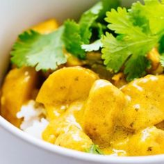 Thai Yellow Chicken Curry with Potatoes - the ultimate comfort food that is surprisingly easy to make! So perfectly savory with just a teensy bit of sweet.