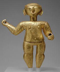 Standing Figure, 1st century B.C.–1st century A.D.  Ecuador or Colombia; Tolita/Tumaco  Gold